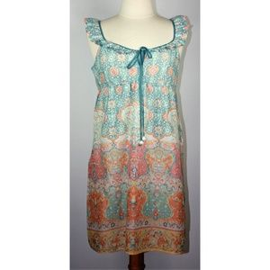 Anthropologie Lilka Boho Pastel Floral Nightgown
